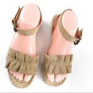 Splendid espadrille sandals brown size 8